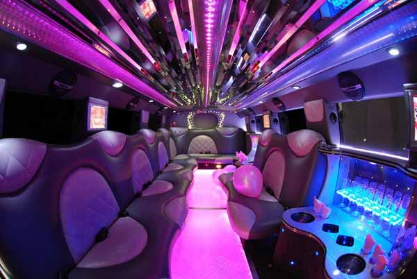 Cadillac Escalade limo interior Fort Collins