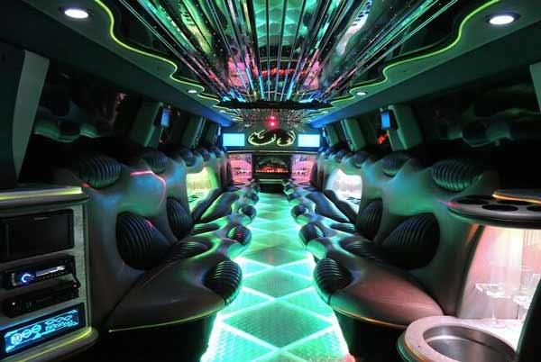 Hummer limo interior Fort Collins